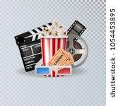 vector 3d realistic cinema...   Shutterstock .eps vector #1054453895