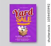 garage or yard sale event... | Shutterstock .eps vector #1054455992