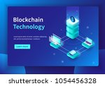 blockchain technology and... | Shutterstock .eps vector #1054456328