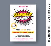 summer camp poster  flyer or... | Shutterstock .eps vector #1054458806