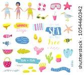 summer beach vacation childish... | Shutterstock .eps vector #1054460342