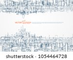 the concept of parallel... | Shutterstock .eps vector #1054464728