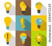 light bulb icons set. flat set... | Shutterstock . vector #1054472135