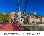 old town of lyon france  ... | Shutterstock . vector #1054478156