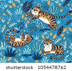 vector seamless pattern with... | Shutterstock .eps vector #1054478762