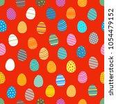 easter eggs silhouettes... | Shutterstock .eps vector #1054479152