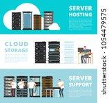 hardware server system and... | Shutterstock .eps vector #1054479575
