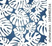 tropical pattern on denim... | Shutterstock .eps vector #1054481516