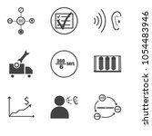 set of 9 simple editable icons... | Shutterstock .eps vector #1054483946