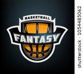 fantasy basketball  sports logo ... | Shutterstock .eps vector #1054485062