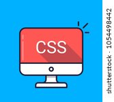 computer with css word on... | Shutterstock .eps vector #1054498442