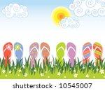 Summer Colorful Flip Flops In...