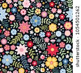 seamless ditsy floral pattern... | Shutterstock .eps vector #1054501262