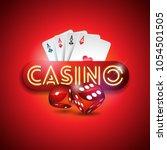 vector illustration on a casino ... | Shutterstock .eps vector #1054501505
