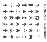 arrow button icons. right... | Shutterstock .eps vector #1054502672