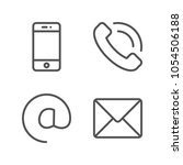 outline communication icons ...