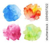 set of four colorful vibrant... | Shutterstock . vector #1054507322