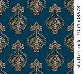 vector volumetric damask... | Shutterstock .eps vector #1054508678
