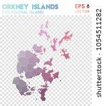 orkney islands polygonal ... | Shutterstock .eps vector #1054511282