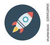 launcher rocket travel  | Shutterstock .eps vector #1054518905