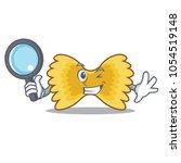 detective farfalle pasta... | Shutterstock .eps vector #1054519148
