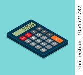 calculator isometric flat icon. ... | Shutterstock .eps vector #1054521782