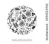 flower circle shape pattern.... | Shutterstock .eps vector #1054521932