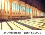 beautiful arched windows in the ... | Shutterstock . vector #1054521938