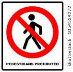 no access for pedestrians... | Shutterstock .eps vector #1054524272