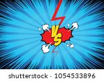 fight backgrounds comics style... | Shutterstock .eps vector #1054533896