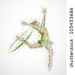abstract gymnast with hoop. eps ... | Shutterstock .eps vector #105453686