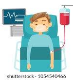 caucasian white man in coma... | Shutterstock .eps vector #1054540466