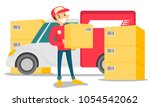 young caucasian white male... | Shutterstock .eps vector #1054542062