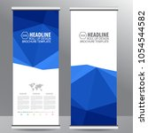 roll up business brochure flyer ... | Shutterstock .eps vector #1054544582