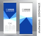 roll up business brochure flyer ... | Shutterstock .eps vector #1054544615