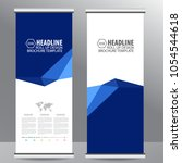 roll up business brochure flyer ... | Shutterstock .eps vector #1054544618