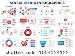 vector sales funnel  statistic  ... | Shutterstock .eps vector #1054554122
