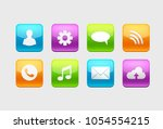 set of glossy button icons for... | Shutterstock .eps vector #1054554215