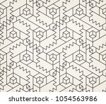 abstract geometric pattern with ... | Shutterstock .eps vector #1054563986