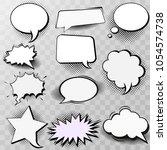set of blank template in pop... | Shutterstock .eps vector #1054574738