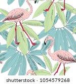 tropical seamless vector... | Shutterstock .eps vector #1054579268