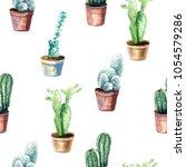 watercolor hand drawn seamless... | Shutterstock . vector #1054579286