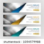 abstract web banner design... | Shutterstock .eps vector #1054579988
