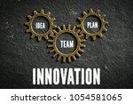 cogwheels symbolizing a... | Shutterstock . vector #1054581065