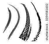 tire tracks print texture. off... | Shutterstock .eps vector #1054581602