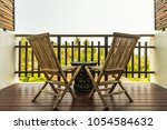 outdoor patio decoration with... | Shutterstock . vector #1054584632