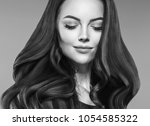 woman close up beauty face... | Shutterstock . vector #1054585322