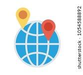 location map pin  | Shutterstock .eps vector #1054588892