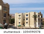 houses in the city of dahab. | Shutterstock . vector #1054590578
