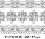 celtic border seamless stencil... | Shutterstock .eps vector #105459122